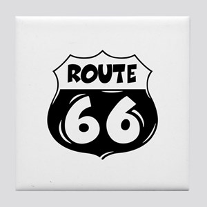 Festive Route 66 Tile Coaster