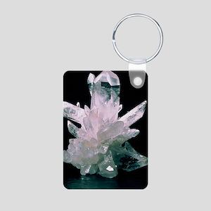 Quartz crystals Aluminum Photo Keychain