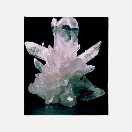 Quartz crystals Throw Blanket