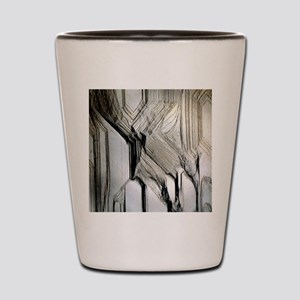 Pyrite crystal surface Shot Glass