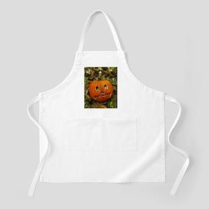 Pumpkin cut into Halloween lantern Apron