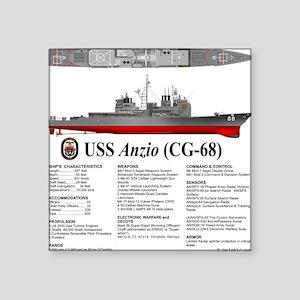 """USS Anzio CG-68 Square Sticker 3"""" x 3"""""""