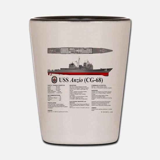 USS Anzio CG-68 Shot Glass