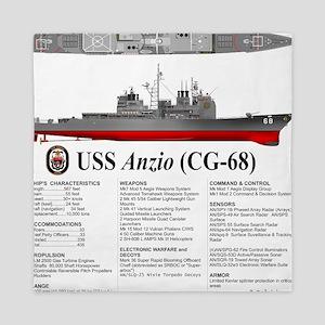 USS Anzio CG-68 Queen Duvet