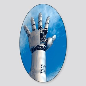 Cybernetic arm, artwork Sticker (Oval)
