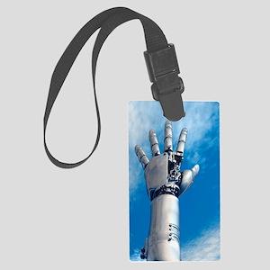 Cybernetic arm, artwork Large Luggage Tag