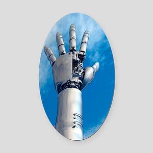Cybernetic arm, artwork Oval Car Magnet