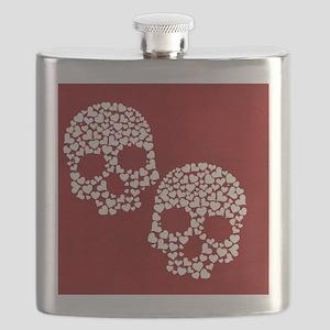 Heart Skull Flask