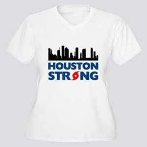 Houston Texas Str Women's Plus Size V-Neck T-Shirt