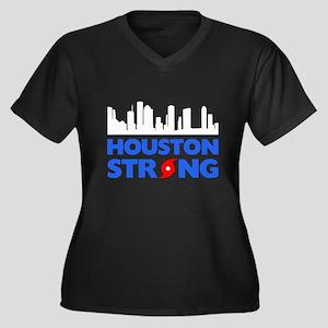 Houston Texa Women's Plus Size V-Neck Dark T-Shirt