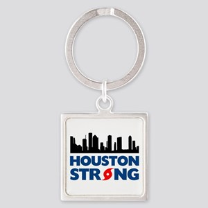 Houston Texas Strong Square Keychain
