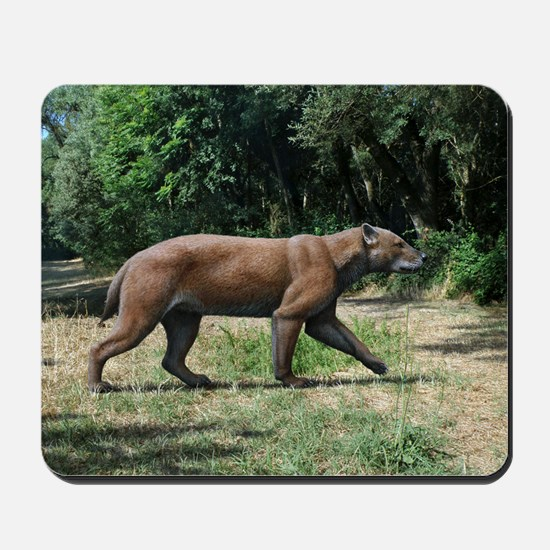 Prehistoric dog-bear, artwork Mousepad