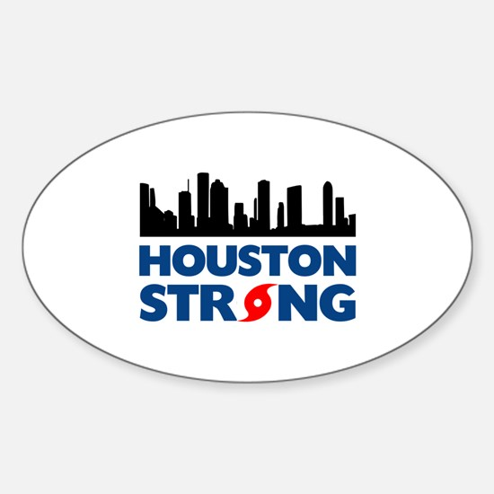 Houston Texas Strong Sticker (Oval)