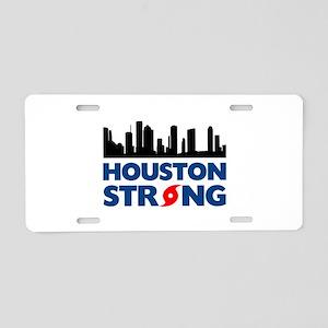 Houston Texas Strong Aluminum License Plate