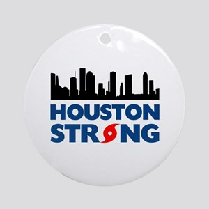 Houston Texas Strong Round Ornament