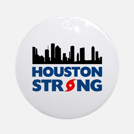 Houston Texas Strong Round Ornament