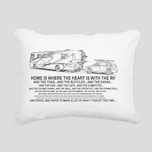 home Rectangular Canvas Pillow