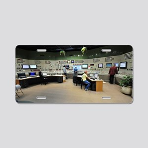 Power station control room Aluminum License Plate