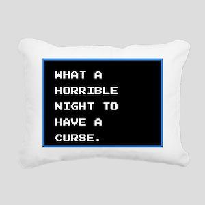 Horrible Night Rectangular Canvas Pillow