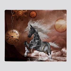 Steampunk, awesome steampunk horse with clocks and