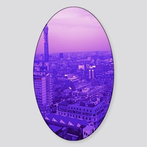 Post Office Tower Sticker (Oval)
