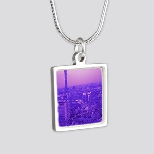 Post Office Tower Silver Square Necklace