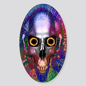 Computer virus, conceptual artwork Sticker (Oval)