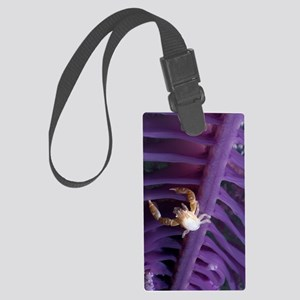 Porcelain crab on a sea pen Large Luggage Tag