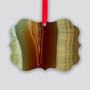 Polished slice of agate Picture Ornament