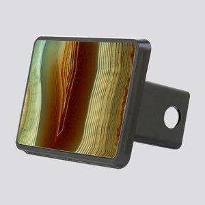 Polished slice of agate Rectangular Hitch Cover