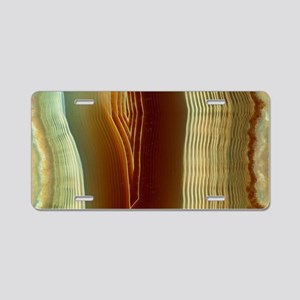 Polished slice of agate Aluminum License Plate