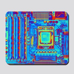 Computer motherboard with core i7 CPU Mousepad