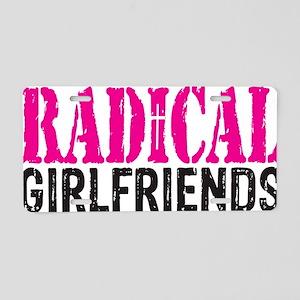 Radical Girlfriends Aluminum License Plate