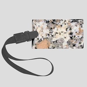 Polished white granite Large Luggage Tag