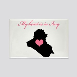 My heart is in Iraq Rectangle Magnet