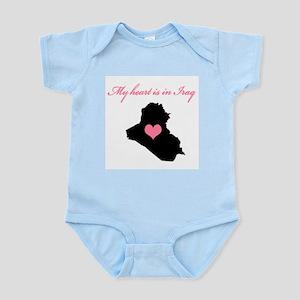 My heart is in Iraq Infant Bodysuit