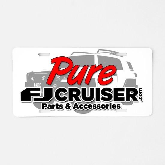 PureFJCruiser.com Logo Aluminum License Plate