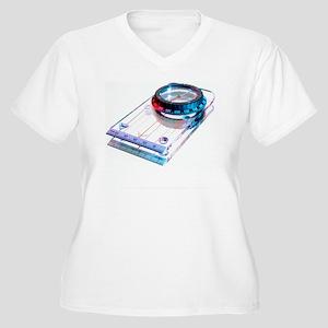 Compass Women's Plus Size V-Neck T-Shirt