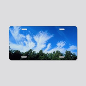 Plumes of cirrus cloud in t Aluminum License Plate