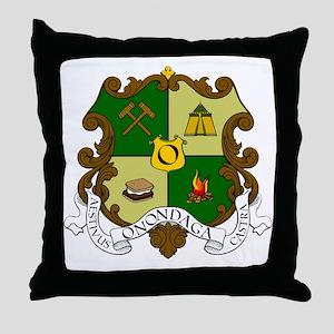 Camp Onondaga Coat of Arms Throw Pillow