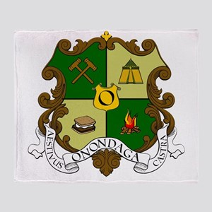 Camp Onondaga Coat of Arms Throw Blanket