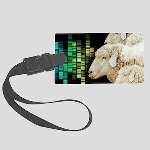 Cloned sheep, conceptual image Large Luggage Tag