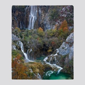 Plitvice National Park Throw Blanket