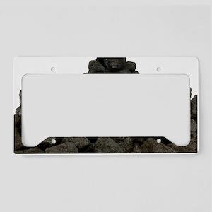 Pile of coal License Plate Holder