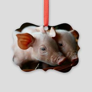 Piglets Picture Ornament