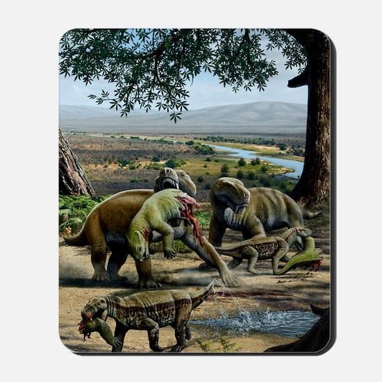 Permian animals, artwork Mousepad