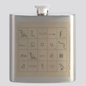 Phonetic Egyptian hieroglyphs Flask