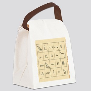 Phonetic Egyptian hieroglyphs Canvas Lunch Bag