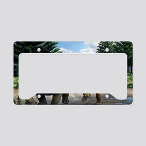 Permian animals, artwork License Plate Holder