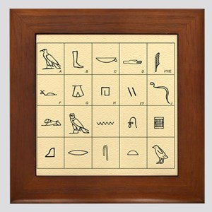 Phonetic Egyptian hieroglyphs Framed Tile